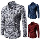 Long-sleeve Floral-pattern Shirt