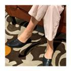 Plain Flat-heel Mules
