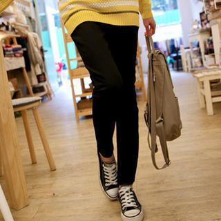 Brushed-fleece Lined Skinny Pants
