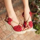 Platform Wedge Dotted Sandals