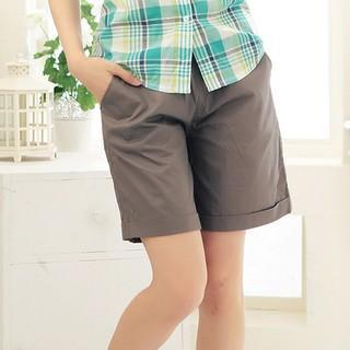 Drawsting Roll-up Shorts