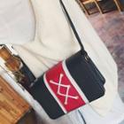 Faux-leather Colorblock Mini Cross Bag