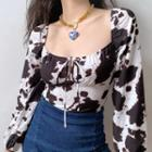 Milk Cow Print Blouse
