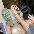 Transparent Platform Slide Sandals