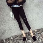 Crop Ripped Skinny Pants