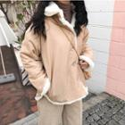 Reversible Furry Buttoned Jacket