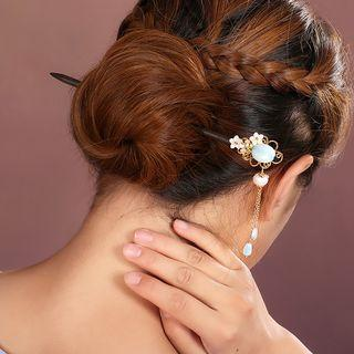 Retro Faux Pearl Flower Hair Stick