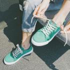 Fray Edge Canvas Sneakers