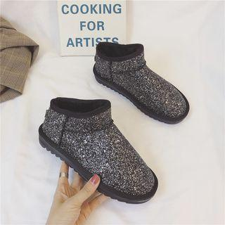 Glitter Ankle Snow Boots