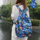 Nylon Floral Backpack