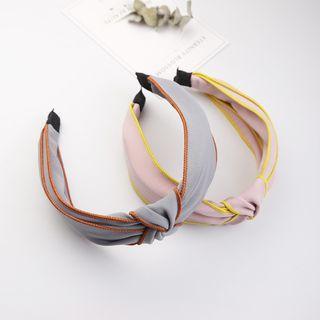 Contrast Trim Knot Detail Headband
