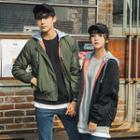 Couple Hooded Flight Jacket