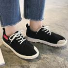 Faux Suede Patched Sneakers