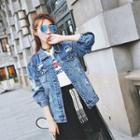 Ripped Denim Buttoned Jacket