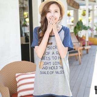 Short-sleeve Lettering T-shirt Dress