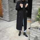 Plain Long Coat Black - One Size