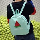 Watermelon Print Canvas Backpack