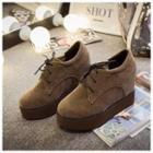 Hidden Wedge Platform Oxfords