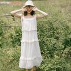 Sleeveless Tiered Chiffon Maxi Dress