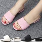 Cutout-heel Slide Sandals