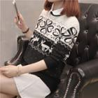 Mock Two Piece Patterned Sweater