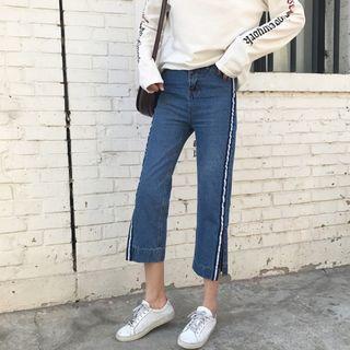 Slit Capri Jeans