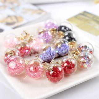 Crystal Ball Double-sided Earring