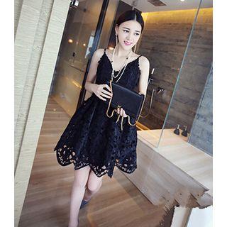 Strappy Lace A-line Dress