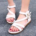 Buckled Stappy Flat Sandals