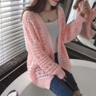 Open Knit Long Cardigan