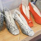Peep-toe Slingback Leopard / Check / Plain Stilettos