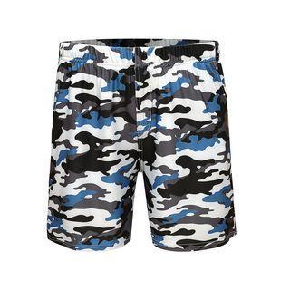 Camouflage Elastic-waist Shorts