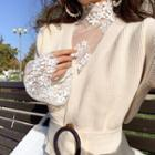 Flared-sleeve Lace Top