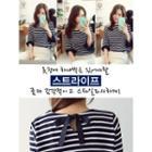Tie-back Stripe T-shirt