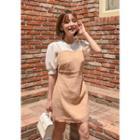 Line Blend Mini Pinafore Dress
