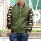 Camo Panel Zip Jacket
