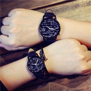 Print Couple Strap Watch