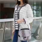 Open-front Perforated Cardigan