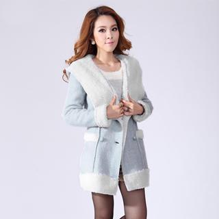 Fleece-lined Hooded Coat