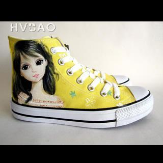 """melancholy Eyes High-top Canvas Sneakers"