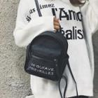 Faux Leather Letter Backpack