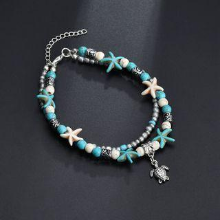 Alloy Sea Turtle Starfish Anklet