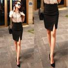 Split-hem Pencil Skirt