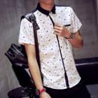 Patterned Short-sleeve Shirt
