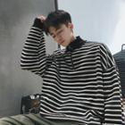 Half Zip Striped Pullover