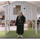 Midi Toggle Coat Black - One Size