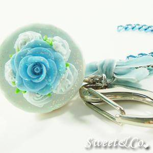 Sweet Glitter Blue Cupcake Xl Bag Charm