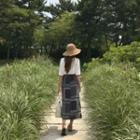 Patterned Long Wrap Skirt
