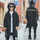Embroidered Long Trench Coat