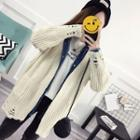 Distressed Long-sleeve Knit Cardigan